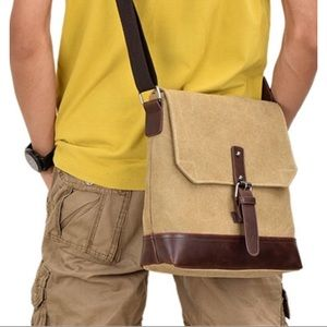 New Canvas Messenger Crossbody Bag